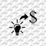Good idea moneyicon stock vector illustration flat design Stock Image