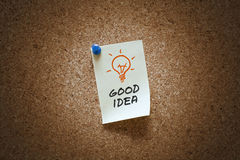 Good idea note Stock Image