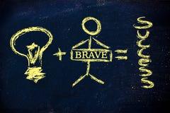A good idea plus a brave investor equal success Stock Image