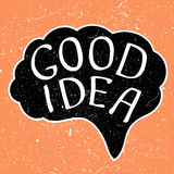 Good Idea text Royalty Free Stock Photos