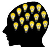 Good ideas. Being creative and having lots of good ideas Royalty Free Stock Images