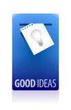 Good ideas booth illustration design Royalty Free Stock Images