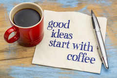 Good ideas start with coffee Stock Image