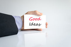 Good ideas text concept Royalty Free Stock Photography
