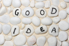Good ideas words Stock Image