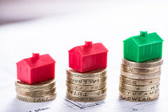 Good invested money can buy home. Good invested money can buy house, estate agent concept Royalty Free Stock Images