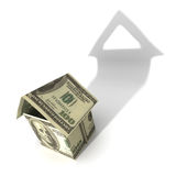 Good investment. Hires computer generated image of money house to illustrate property value Royalty Free Stock Photos