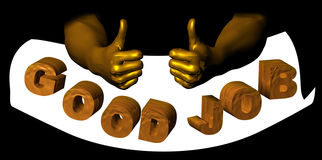 Good job. Concept of doing a good job with thumbs up Royalty Free Stock Photo