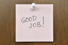 Good Job. Post it note with Good Job! phrase royalty free stock photos