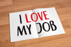 Good Job Assistant I LOVE MY JOB  Businessman and Businesswoman Royalty Free Stock Photo
