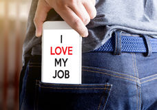 Good Job Assistant I LOVE MY JOB  Businessman and Businesswoman Royalty Free Stock Image