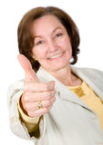 Good job - business woman Stock Image