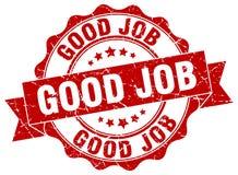 Good job stamp. Good job grunge stamp on white background vector illustration