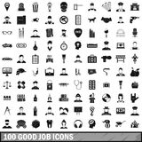 100 good job icons set, simple style. 100 good job icons set in simple style for any design vector illustration royalty free illustration
