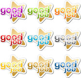 Good job motivation sticker Stock Image