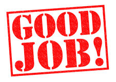 GOOD JOB!. Red Rubber Stamp over a white background Stock Images