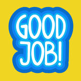 Good Job Sticker Social Media Network Message Badges Design Royalty Free Stock Photography
