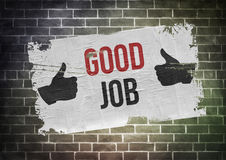 Good job. Thumbs up poster concept Royalty Free Stock Images