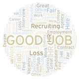 Good Job word cloud. Wordcloud made with text only stock illustration