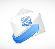 Good karma email illustration design. Over a white background Royalty Free Stock Photos