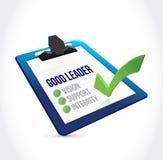 Good leader check mark clipboard illustration Stock Photos
