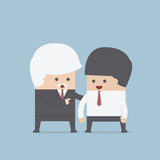 Good leader give some advice for his team royalty free illustration