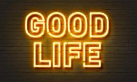 Good life neon sign Stock Image