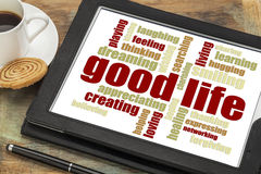 Good life - positive word cloud Stock Image