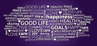Free Good Life Positivity Word Tag Cloud Stock Photo - 168111850