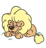 Good lion cartoon illustration Stock Photo