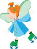 Good little angel riding on roller skates. Stock Photos