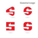 Good logo and S- letter icon abstract logo design. Royalty Free Stock Photo