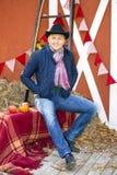 Good looking american cowboy Royalty Free Stock Image