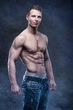 Good looking bodybuilder posing royalty free stock images