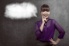 Good looking business woman have nice idea Stock Images