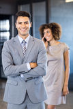 Good looking businessman posing Royalty Free Stock Photography