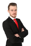 Good looking businessman in suit Stock Image