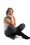 Good looking casual young woman Royalty Free Stock Photography