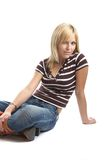 Good looking casual young woman Royalty Free Stock Images