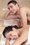 Good looking couple in love during spa Royalty Free Stock Photos