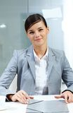 Good-looking employer Stock Photo