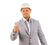 Good Looking Engineer Showing Thumbs up Royalty Free Stock Images