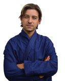 Good looking guy in night robe Stock Photography