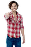 Good looking guy pointing you out Stock Photos