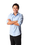 Good looking man in blue shirt Royalty Free Stock Image