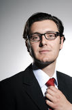 Good looking man in a business suit and glasses Stock Photography