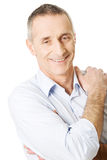 Good looking man touching shoulder Royalty Free Stock Photos