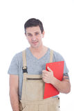 Good Looking Service Man with Clipboard Stock Images