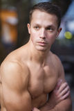 Good looking man. Outdoors portrait of a young athletic gorgeous looking man royalty free stock photos