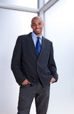 Good-looking smiling businessman royalty free stock image